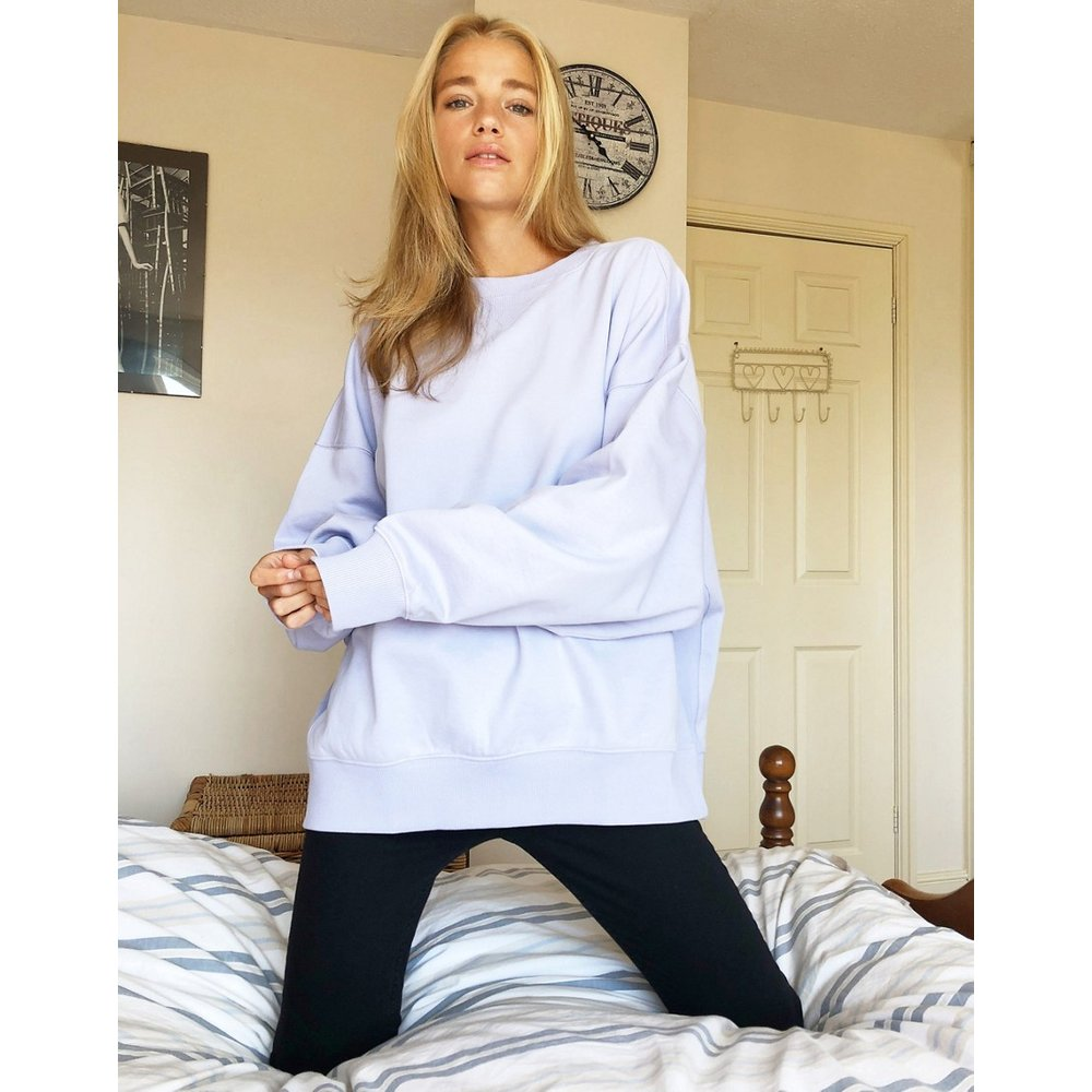 Cocoon - Sweat-shirt ultra oversize à empiècement - Lilas - ASOS DESIGN - Modalova