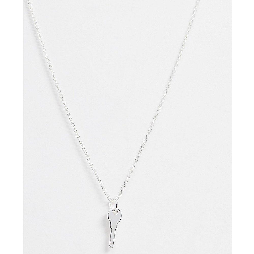 Collier en argent massif avec pendentif clé - ASOS DESIGN - Modalova