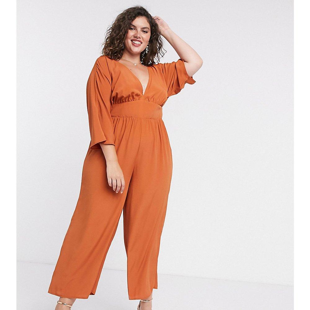 ASOS DESIGN Curve - Combinaison jupe-culotte à manches kimono - Terre cuite - ASOS Curve - Modalova