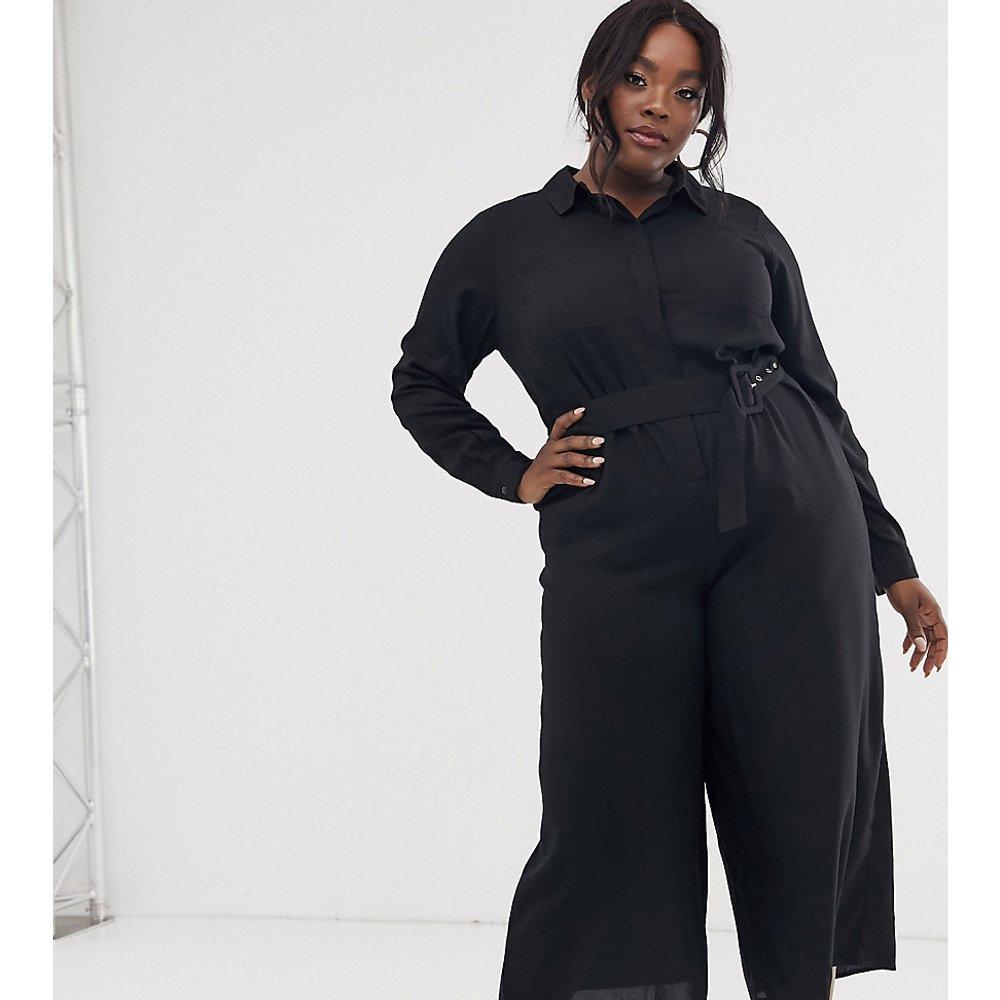 ASOS DESIGN Curve - Combinaison jupe-culotte façon chemise avec ceinture - ASOS Curve - Modalova