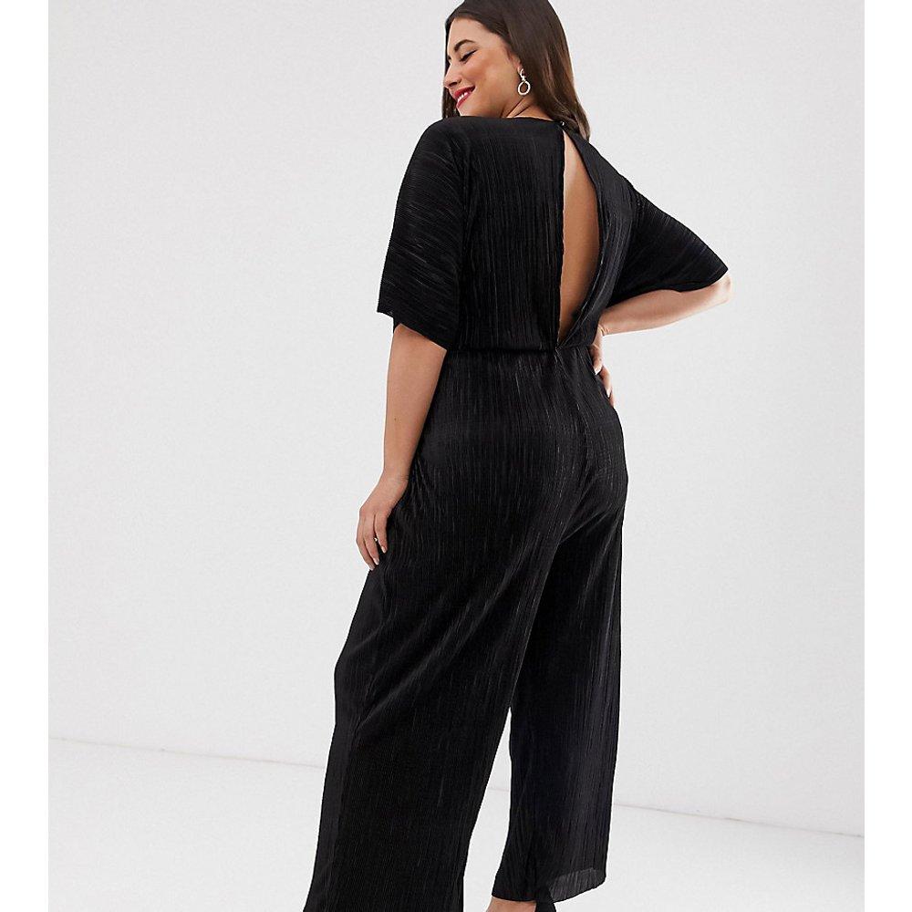 ASOS DESIGN Curve - Combinaison plissée coupe jupe-culotte avec liens sur le devant - ASOS Curve - Modalova
