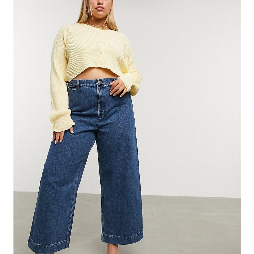 ASOS DESIGN Curve - Easy - Jean large taille haute - délavé moyen - ASOS Curve - Modalova