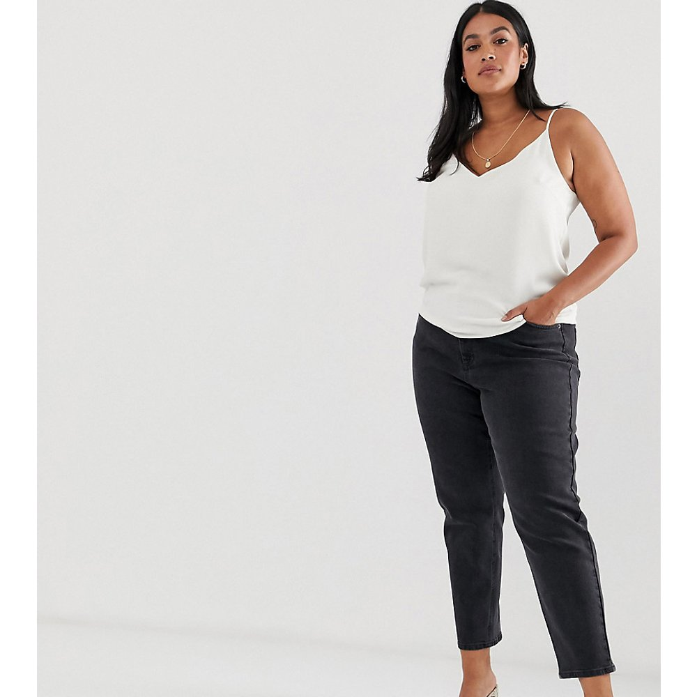 ASOS DESIGN Curve -Farleigh - Jean mom slim taille haute - délavé - ASOS Curve - Modalova
