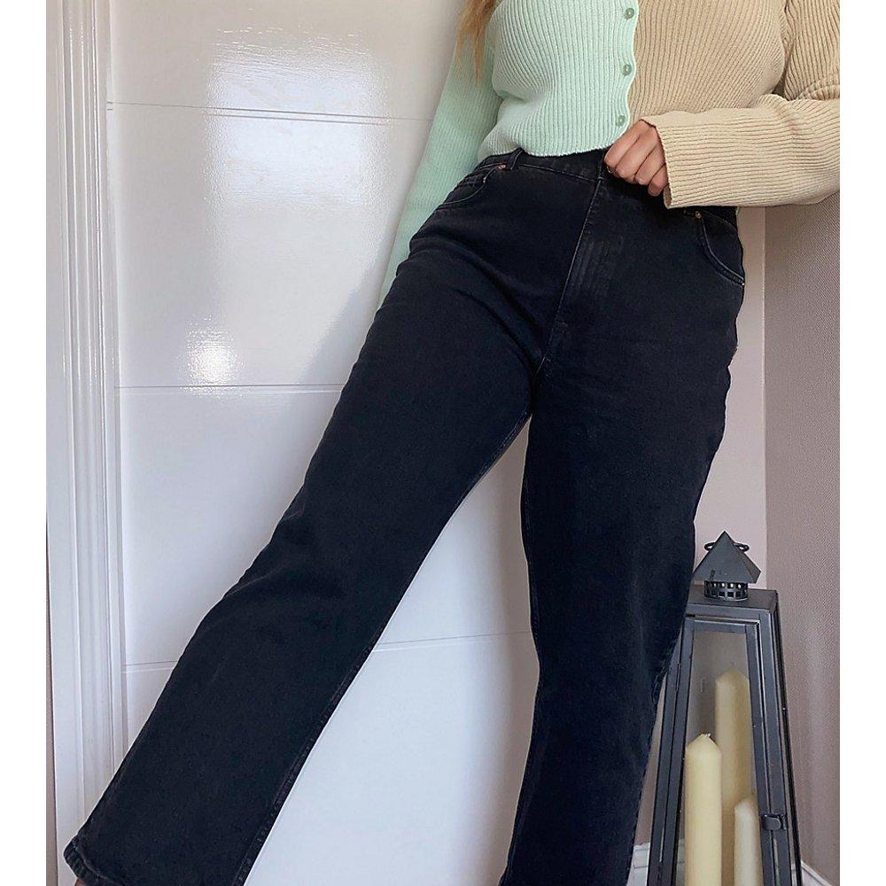 ASOS DESIGN Curve - Jean stretch taille haute coupe droite slim - délavé - ASOS Curve - Modalova