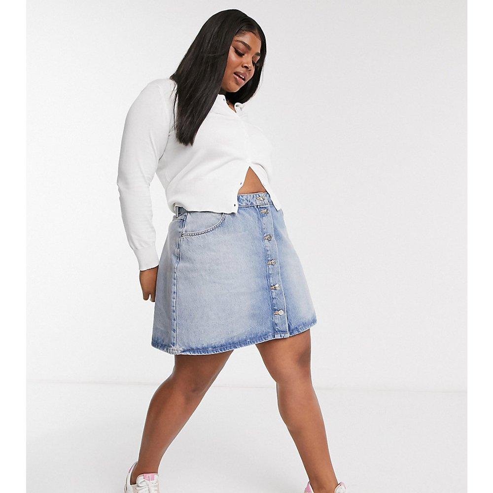 ASOS DESIGN Curve - Jupe en jean boutonnée - ASOS Curve - Modalova