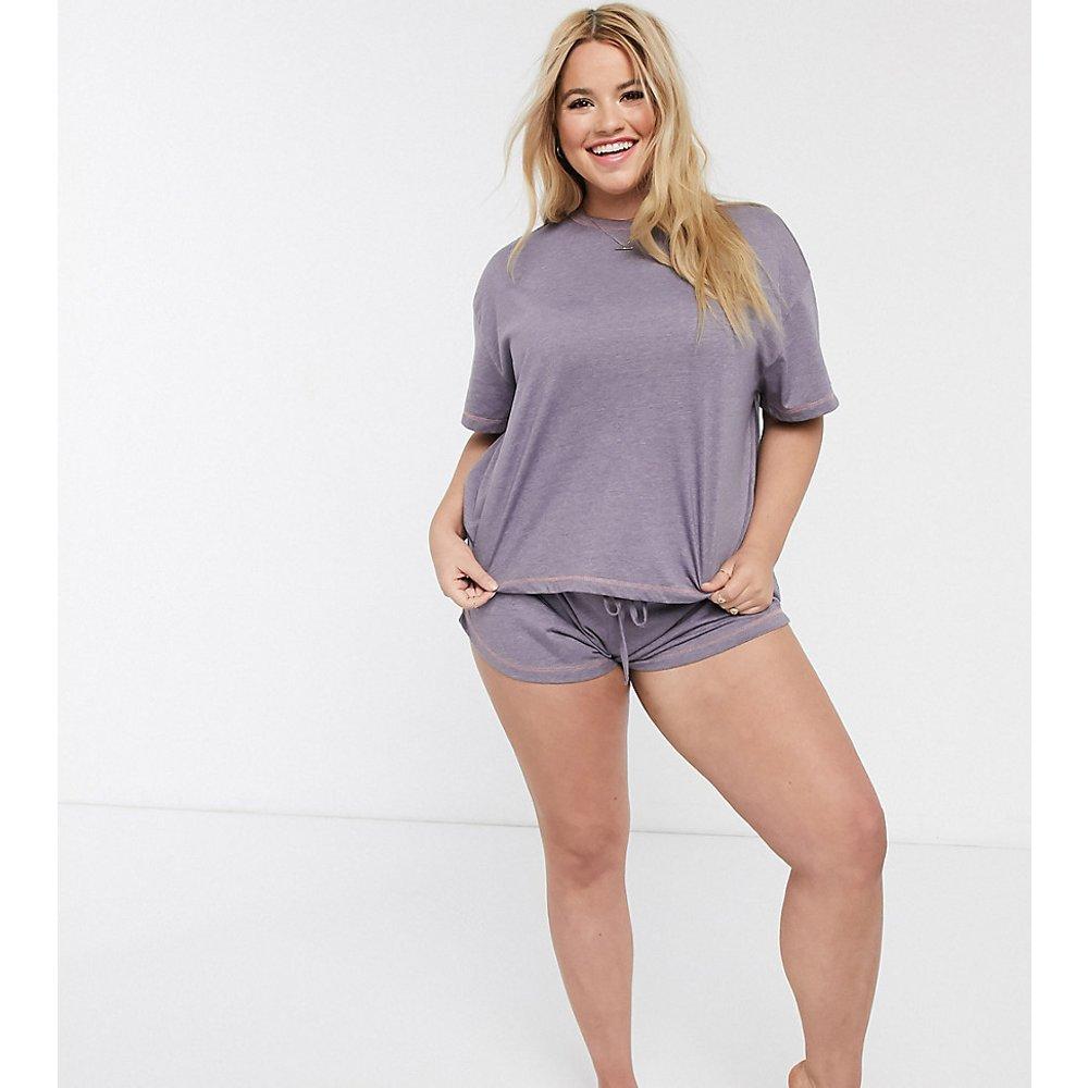 ASOS DESIGN Curve - Mix & Match - Short de pyjama en jersey à surjets - ASOS Curve - Modalova
