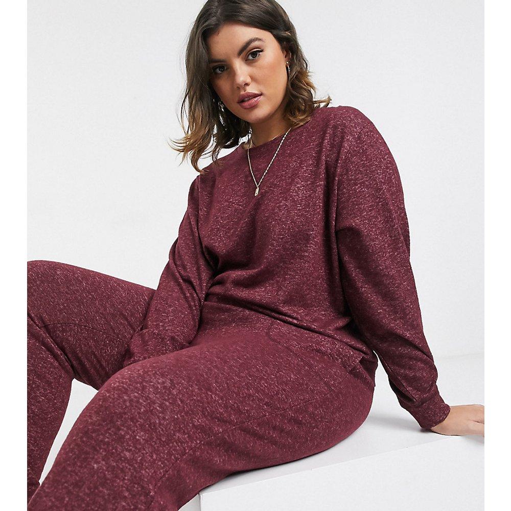 ASOS DESIGN Curve - Mix & match - Sweat-shirt confort manches longues super doux en tissu brossé - ASOS Curve - Modalova