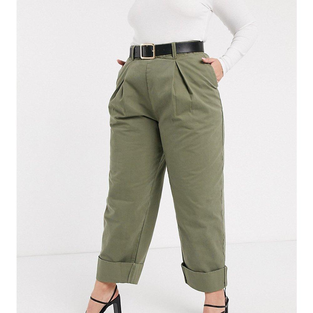 ASOS DESIGN Curve - Pantalon bouffant à revers avec plis - ASOS Curve - Modalova