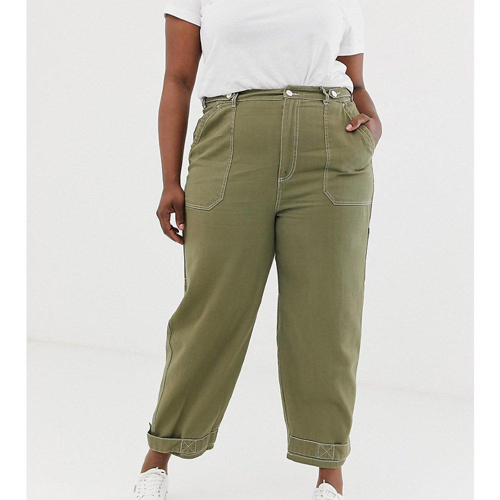 ASOS DESIGN Curve - Pantalon fonctionnel avec surpiqûres et patte - ASOS Curve - Modalova