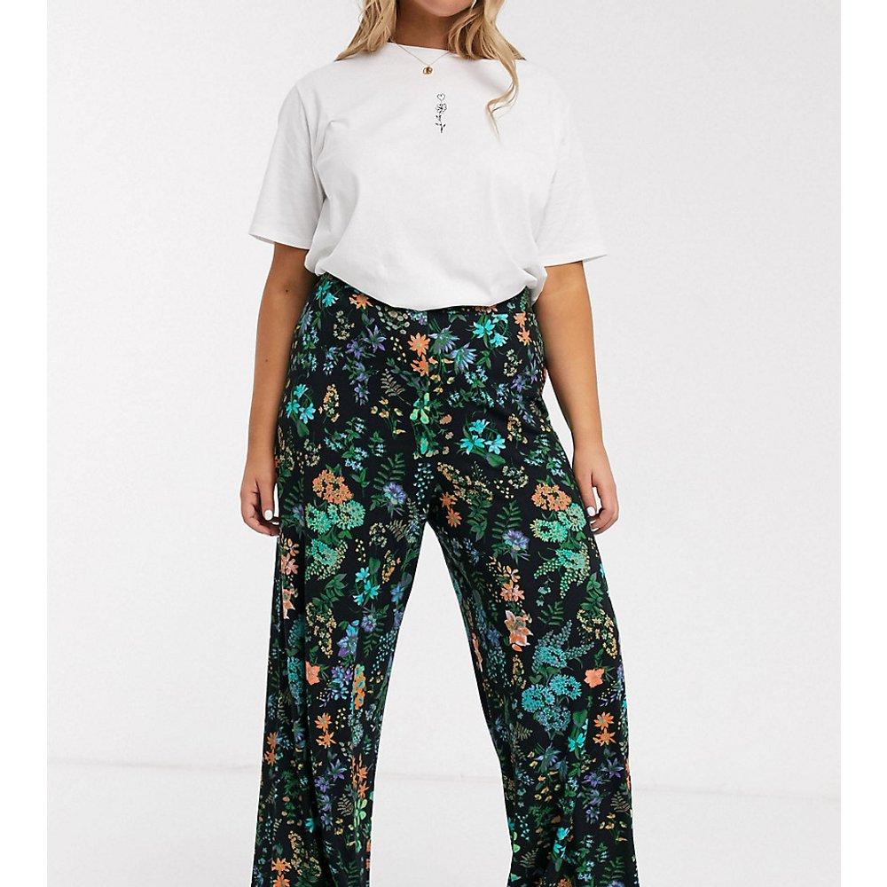 ASOS DESIGN Curve - Pantalon large avec imprimé à fleurs - ASOS Curve - Modalova