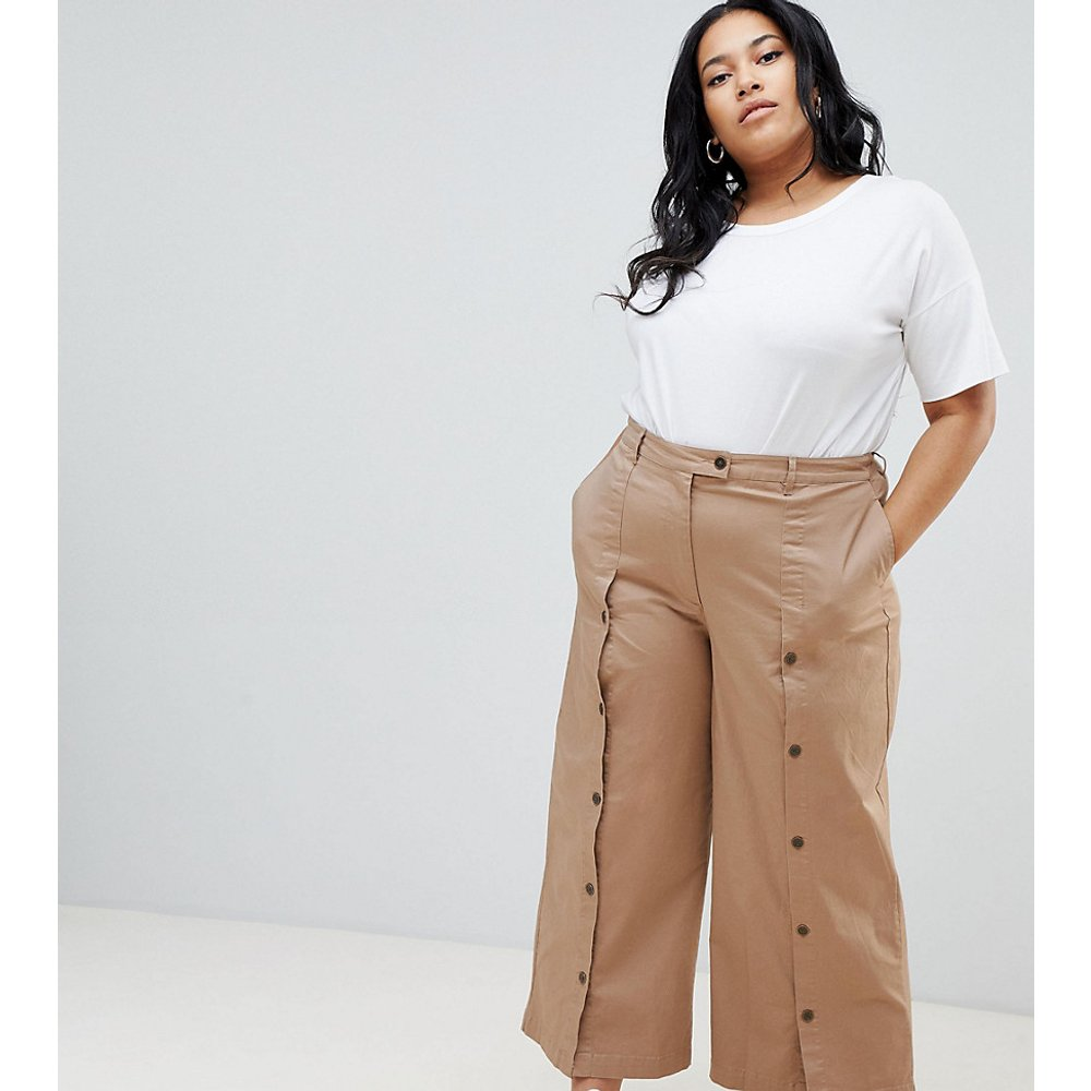 ASOS DESIGN Curve - Pantalon large boutonné devant - ASOS Curve - Modalova