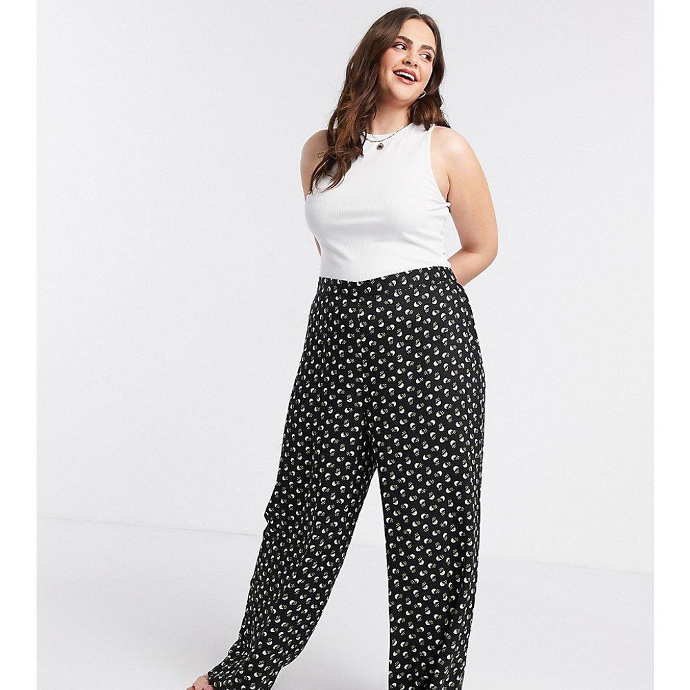 ASOS DESIGN Curve - Pantalon large imprimé petites fleurs - ASOS Curve - Modalova