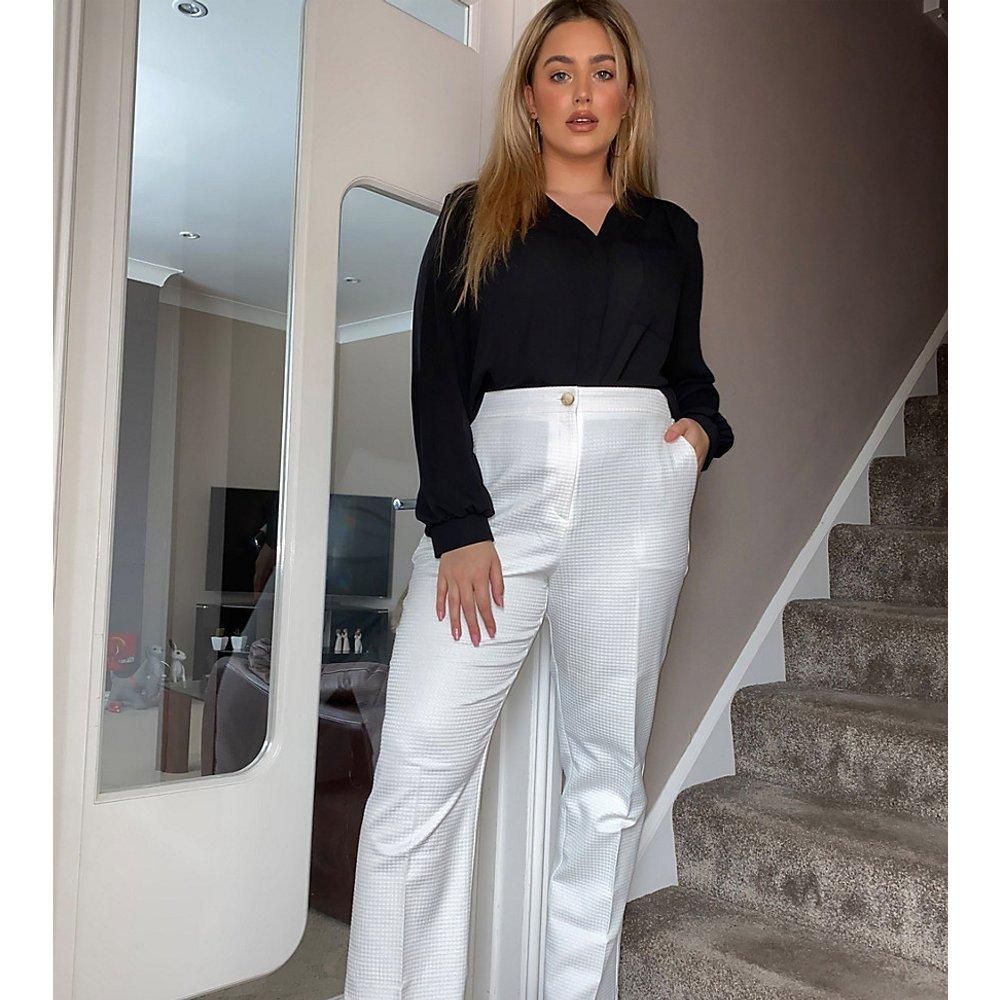 ASOS DESIGN Curve - Pantaon de tailleur fuselé texturé - ASOS Curve - Modalova