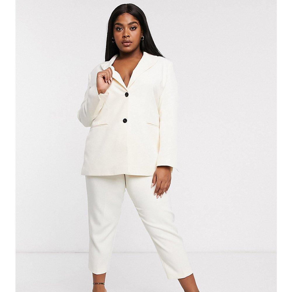 ASOS DESIGN Curve - Pop - Pantalon de tailleur slim - Ivoire - ASOS Curve - Modalova