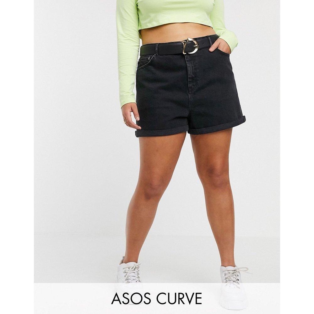 ASOS DESIGN Curve - Ritson - Short mom en jean - délavé - ASOS Curve - Modalova