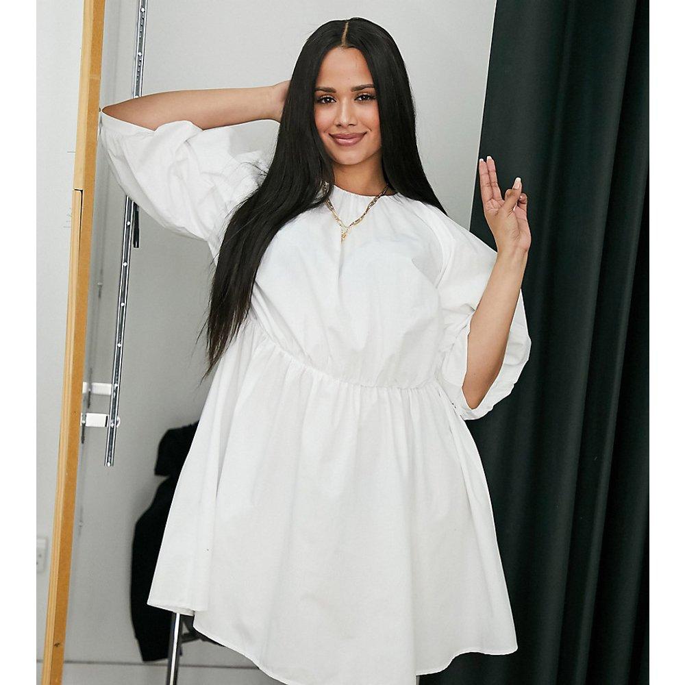 ASOS DESIGN Curve - Robe babydoll courte en popeline de coton - ASOS Curve - Modalova
