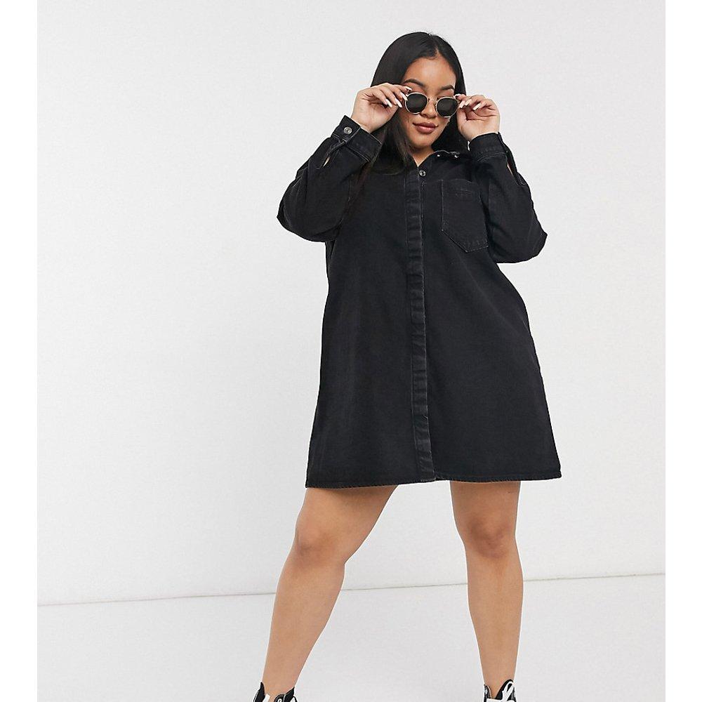 ASOS DESIGN Curve - Robe chemise en jean - délavé - ASOS Curve - Modalova
