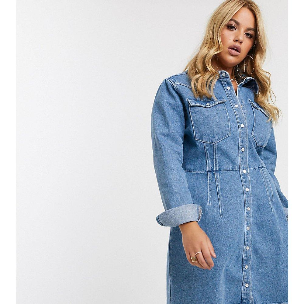 ASOS DESIGN Curve - Robe chemise en jean structurée - ASOS Curve - Modalova
