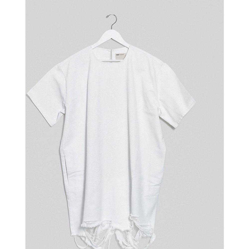 ASOS DESIGN Curve - Robe t-shirt courte en jean - ASOS Curve - Modalova