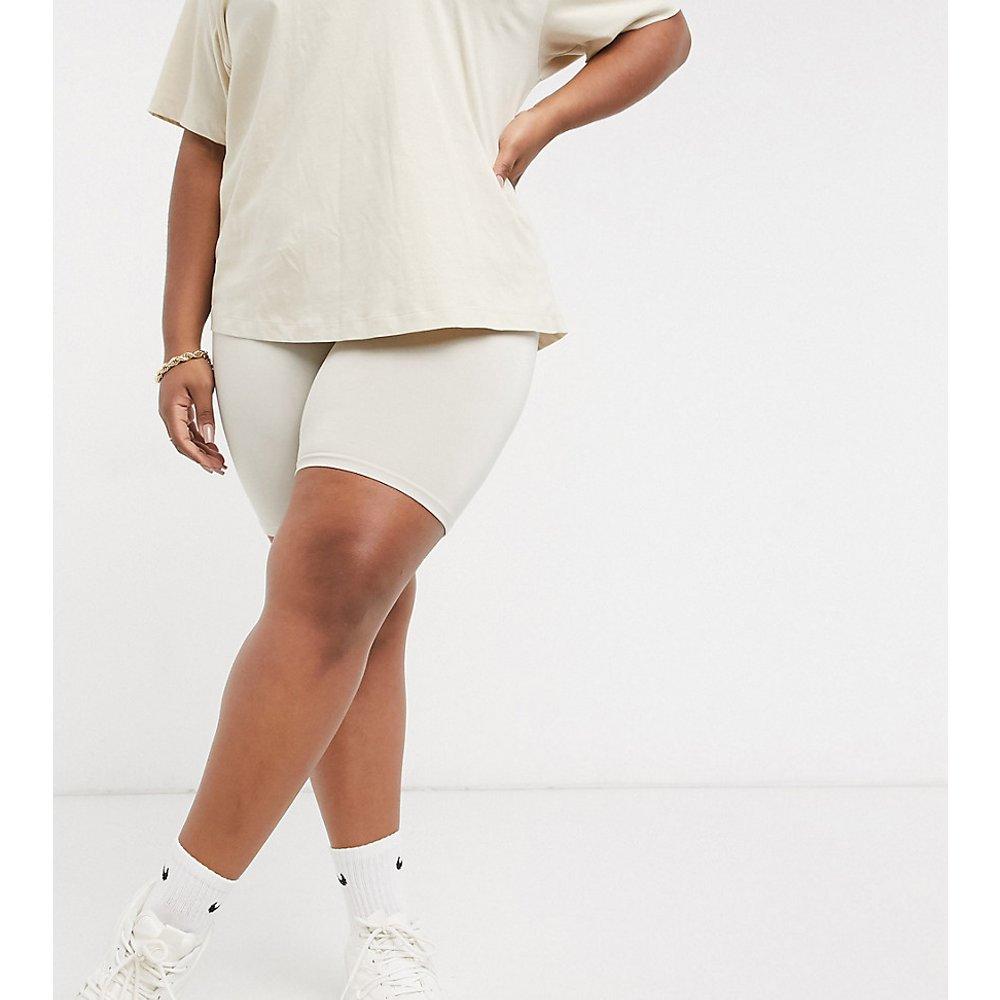 ASOS DESIGN Curve - Short legging basique - Taupe - ASOS Curve - Modalova