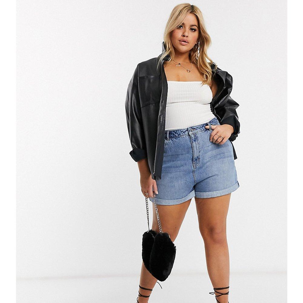 ASOS DESIGN Curve - Short taille haute vintage en jean - ASOS Curve - Modalova