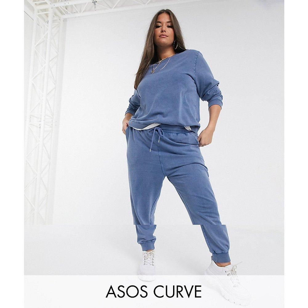 ASOS DESIGN Curve - Survêtement sweat-shirt/jogger délavés à l'acide - ASOS Curve - Modalova