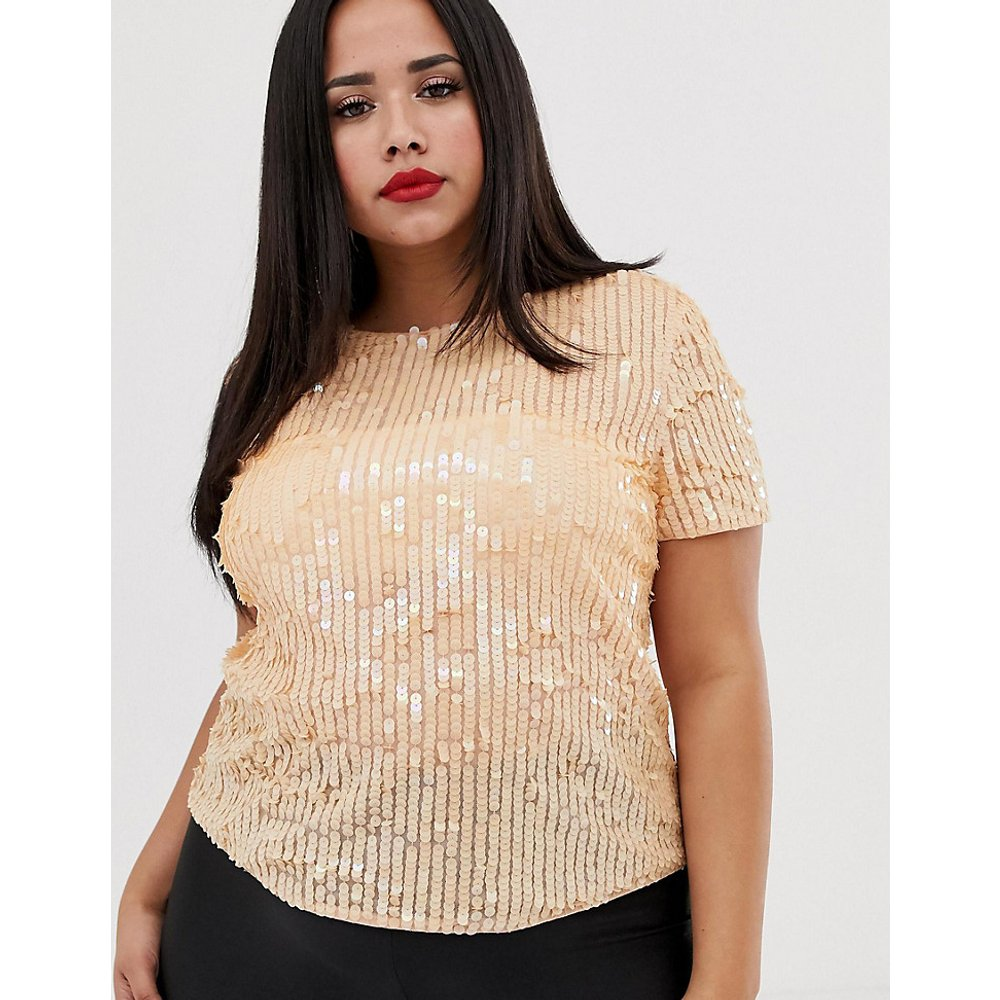 ASOS DESIGN Curve - T-shirt orné de sequins - ASOS Curve - Modalova