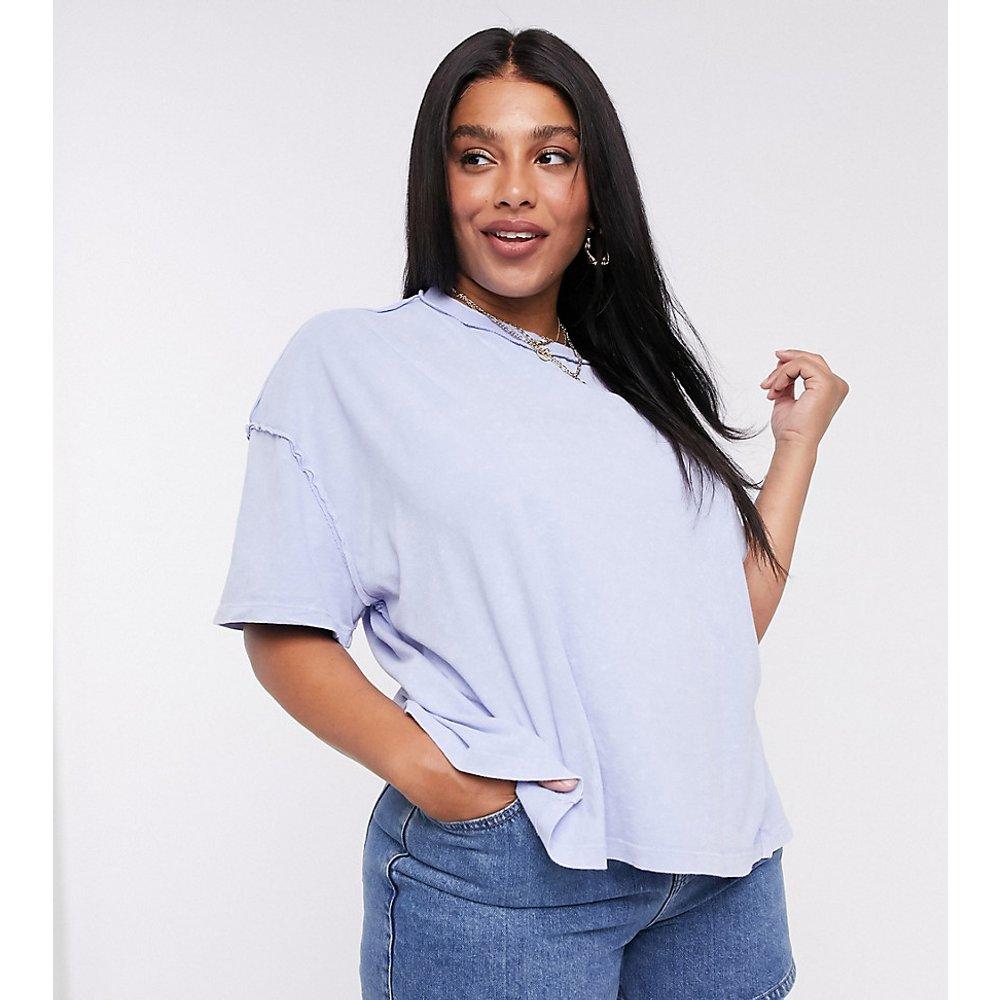 ASOS DESIGN Curve - T-shirt oversize à coutures apparentes - délavé - ASOS Curve - Modalova