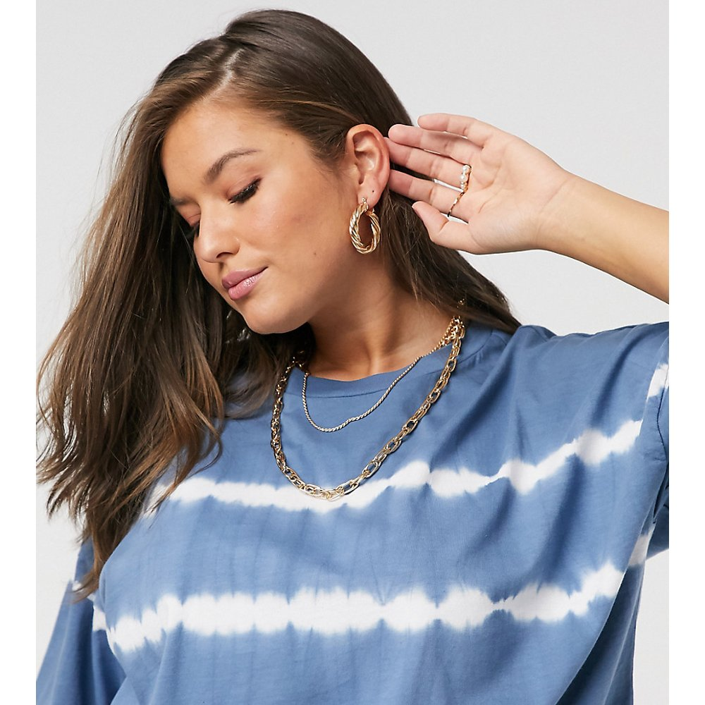 ASOS DESIGN Curve - T-shirt oversize à rayures effet tie-dye - ASOS Curve - Modalova