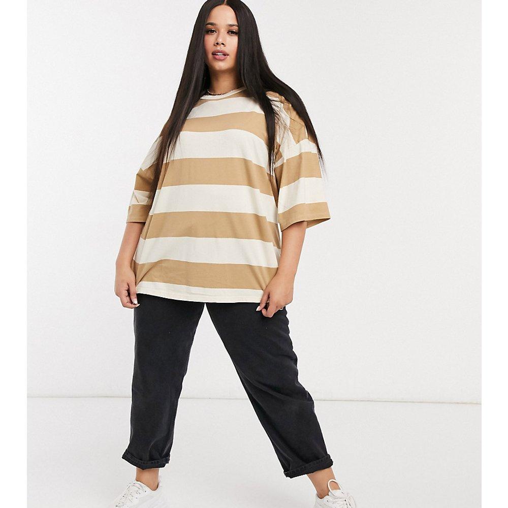 ASOS DESIGN Curve - T-shirt oversizeà grosse rayure délavée - ASOS Curve - Modalova