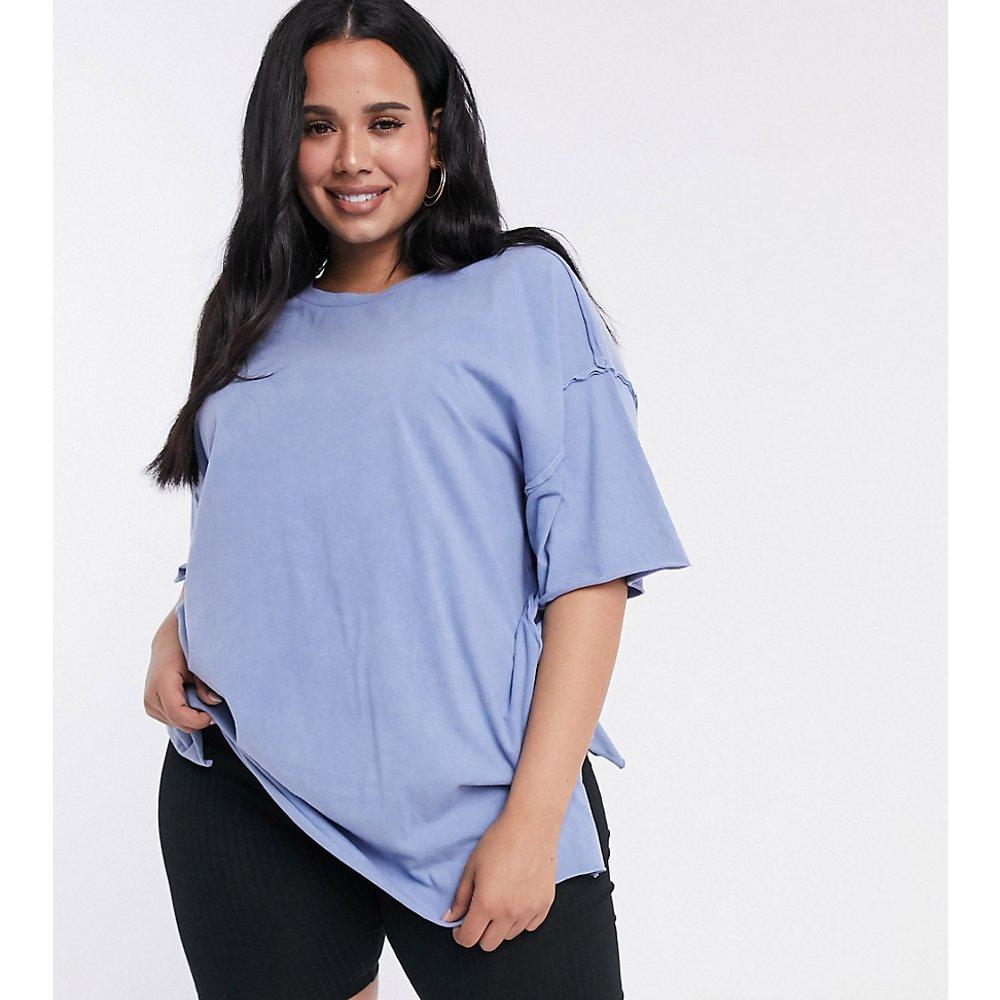 ASOS DESIGN Curve - T-shirt super oversize à coutures apparentes - délavé - ASOS Curve - Modalova