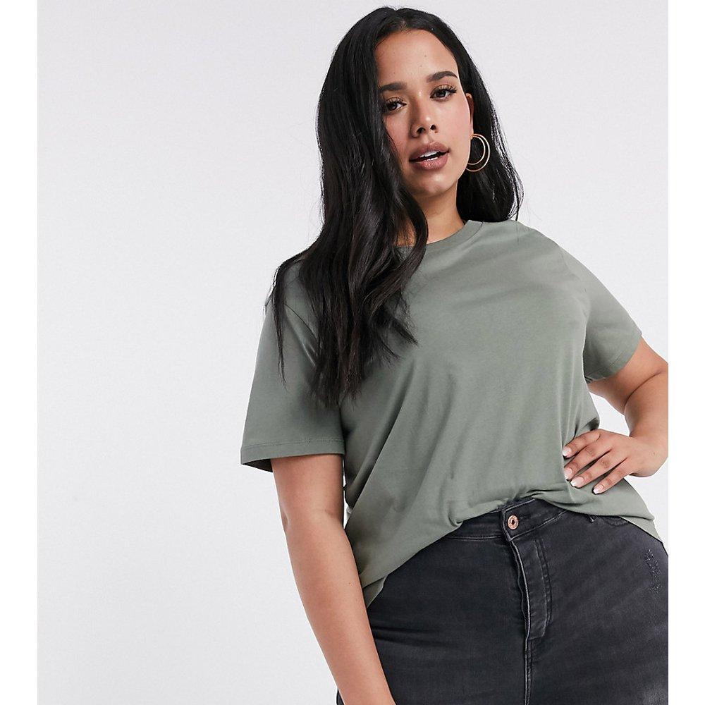 ASOS DESIGN Curve Ultimate - T-shirt ras de cou en coton biologique - Kaki - ASOS Curve - Modalova