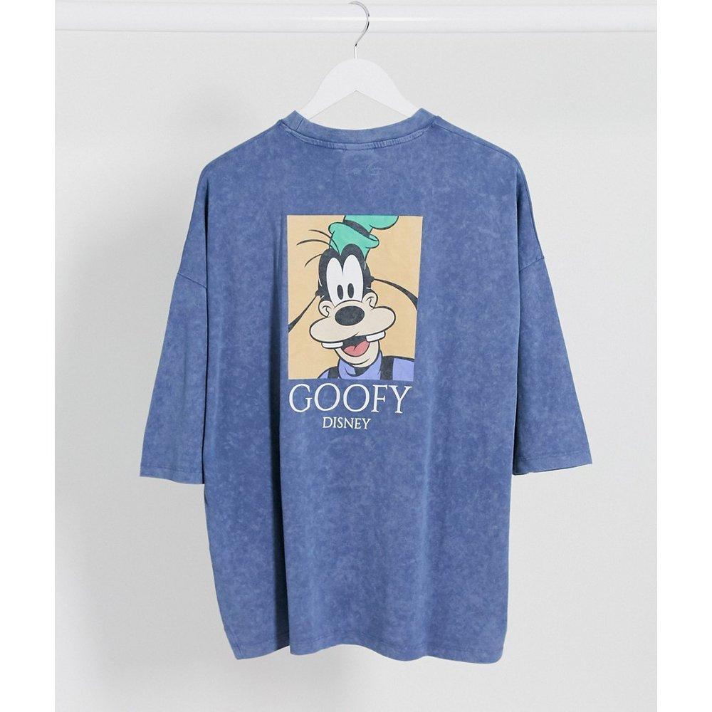 Disney -Goofy - T-shirt oversize avec imprimé au dos délavé à l'acide - ASOS DESIGN - Modalova