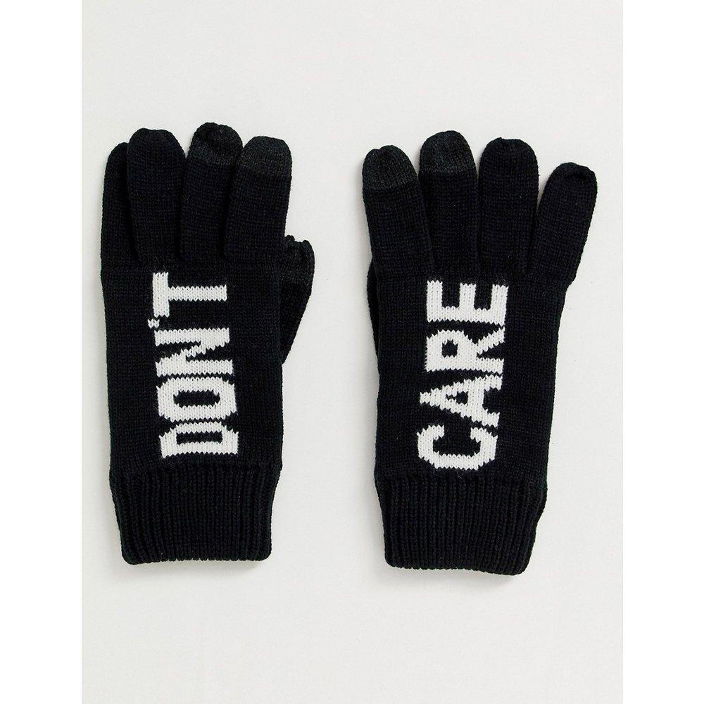 Don't care - Gants adaptés aux écrans tactiles - et blanc - ASOS DESIGN - Modalova