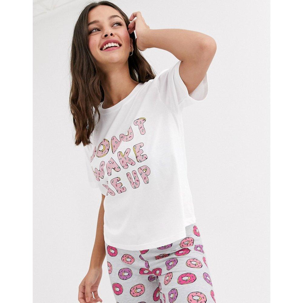Donut wake me up - Pyjama avec t-shirt et leggings - ASOS DESIGN - Modalova