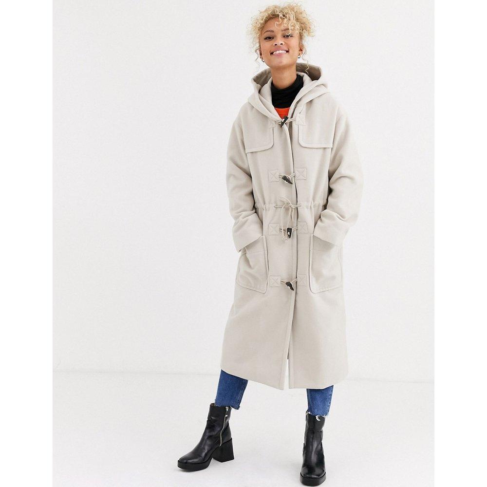 Duffle-coat long - Crème - ASOS DESIGN - Modalova