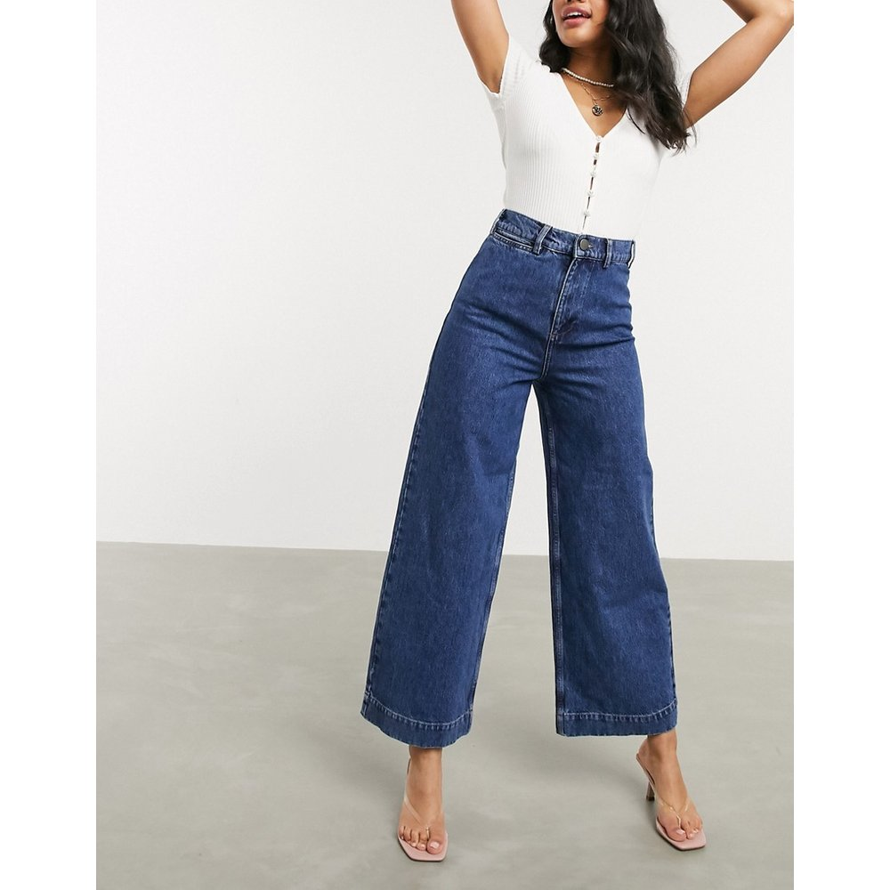 Easy - Jean large taille haute - délavé moyen - ASOS DESIGN - Modalova