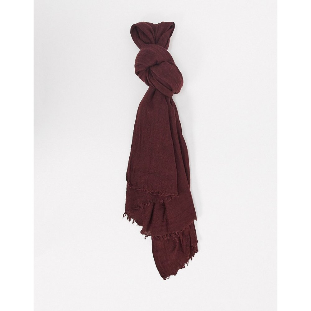 Écharpe longue en laine mélangée légère - Bordeaux - ASOS DESIGN - Modalova