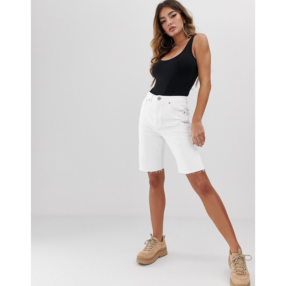 Farleigh - Short long taille haute en jean recyclé - ASOS DESIGN - Modalova