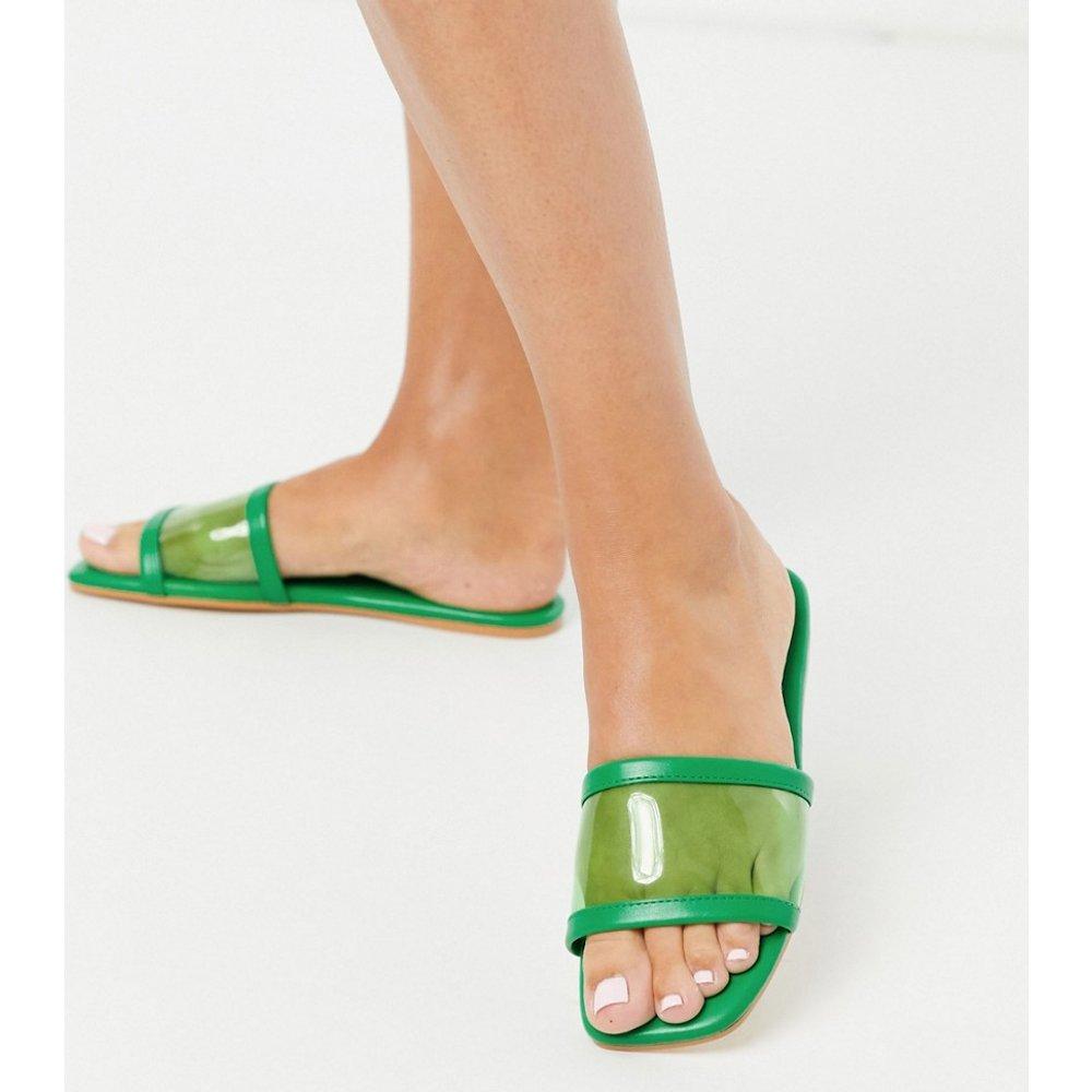 Flash clear - Sandales plates style mules - ASOS DESIGN - Modalova
