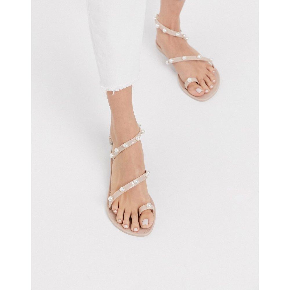 Flaunt - Sandales plates en plastique souple orné de perles - ASOS DESIGN - Modalova