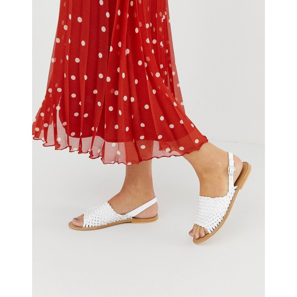 Fraction - Sandales plates en cuir tressé - ASOS DESIGN - Modalova