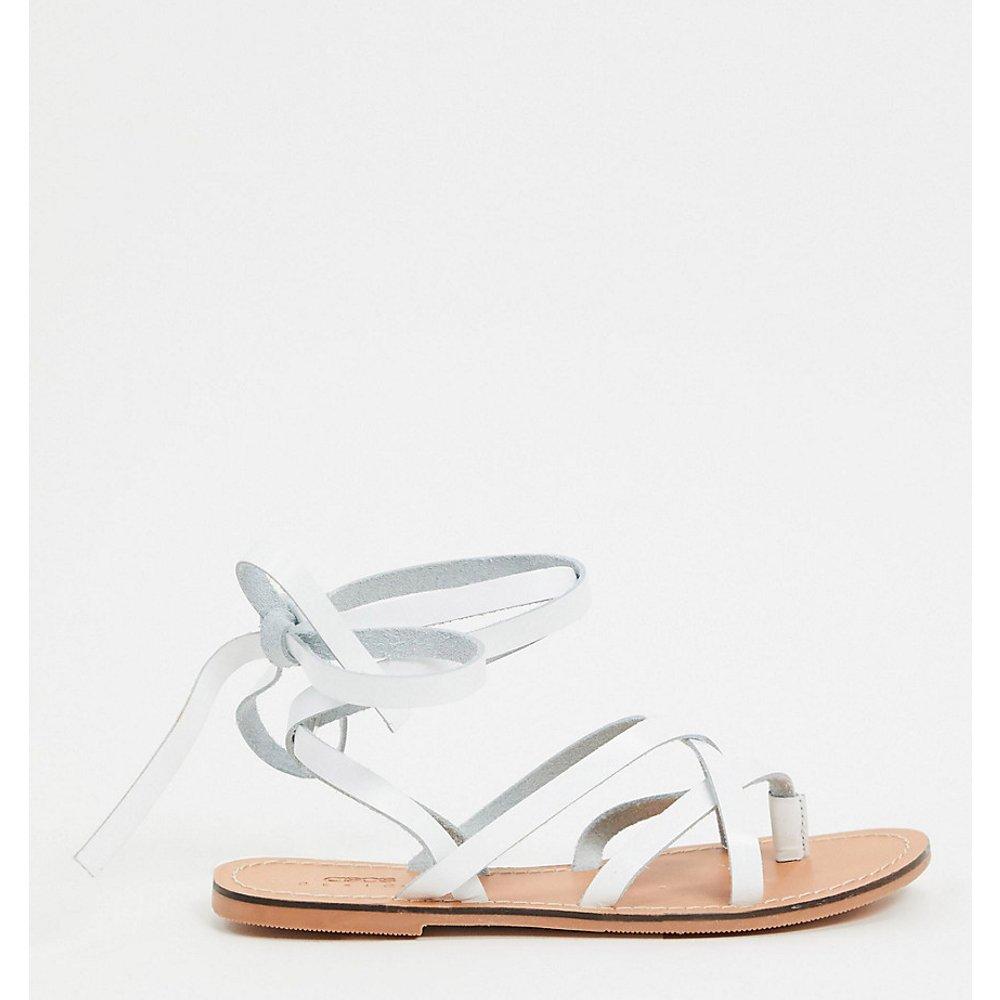Framed - Sandales pointure large en cuir à brides - ASOS DESIGN - Modalova