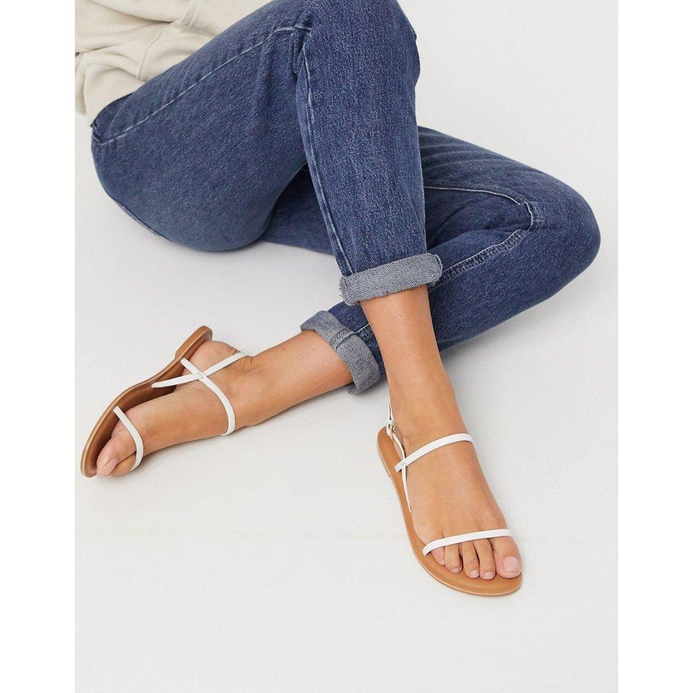 Fuse - Sandales plates en cuir - ASOS DESIGN - Modalova