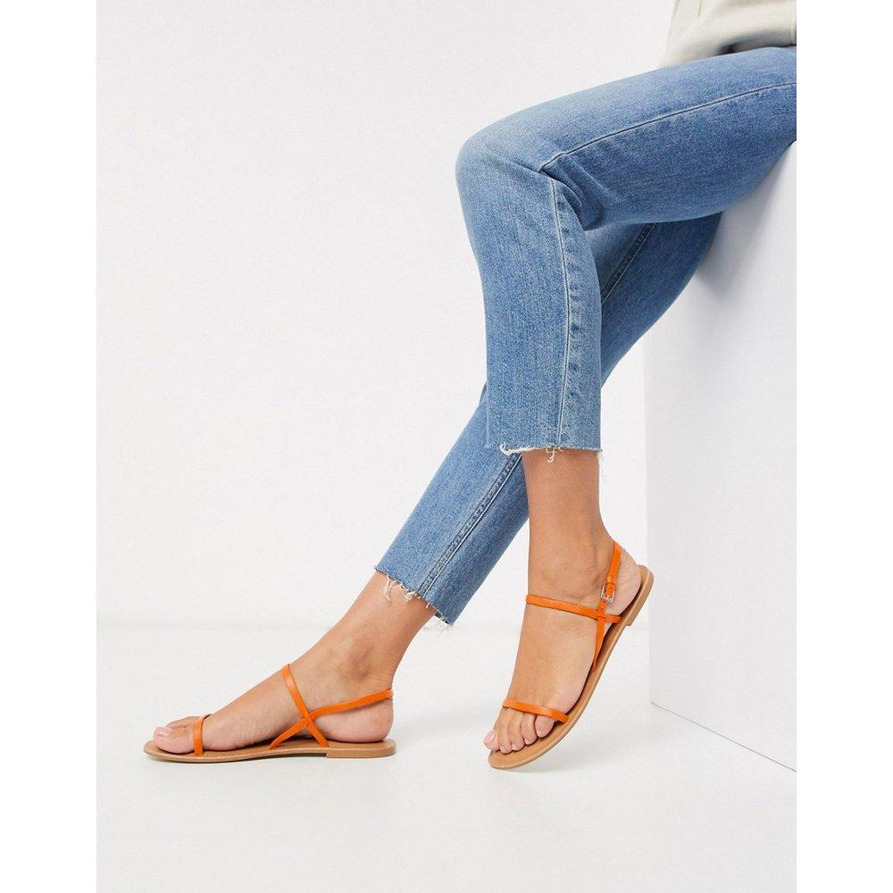 Fuse - Sandales plates en cuir - Orange - ASOS DESIGN - Modalova
