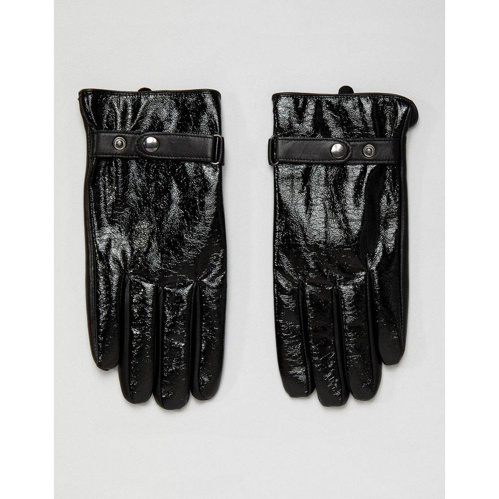 Gants en cuir avec finition vinyle pour écran tactile - ASOS DESIGN - Modalova