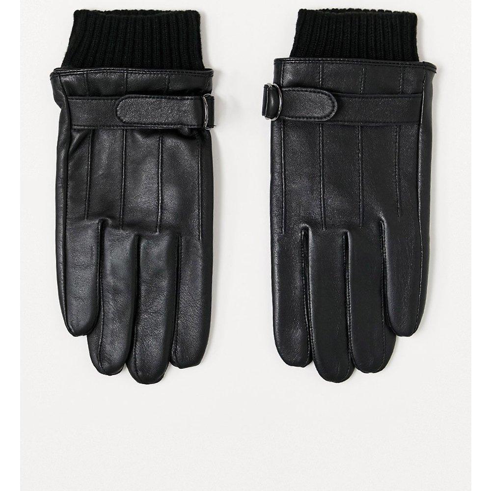 Gants en cuir pour écran tactile avec détail au niveau des poignets - ASOS DESIGN - Modalova