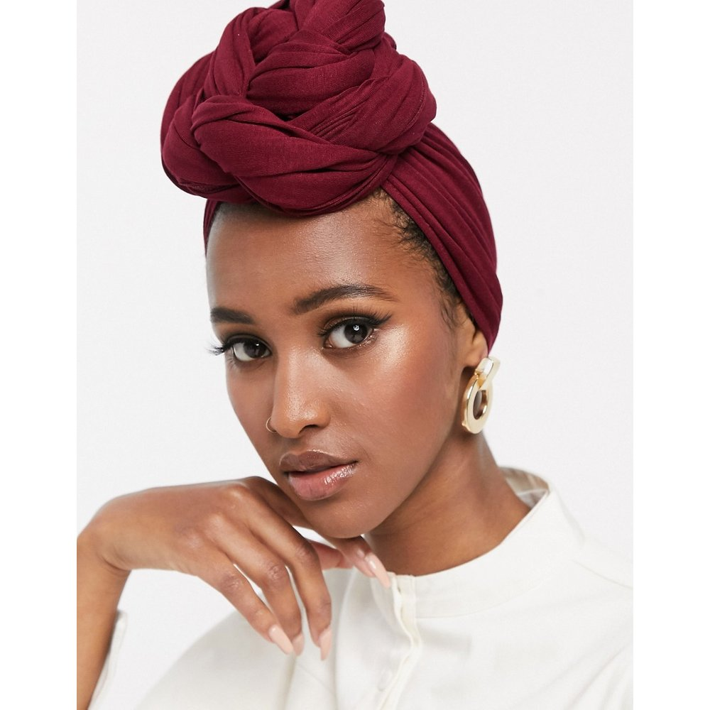 Grand foulard uni - Bordeaux - ASOS DESIGN - Modalova