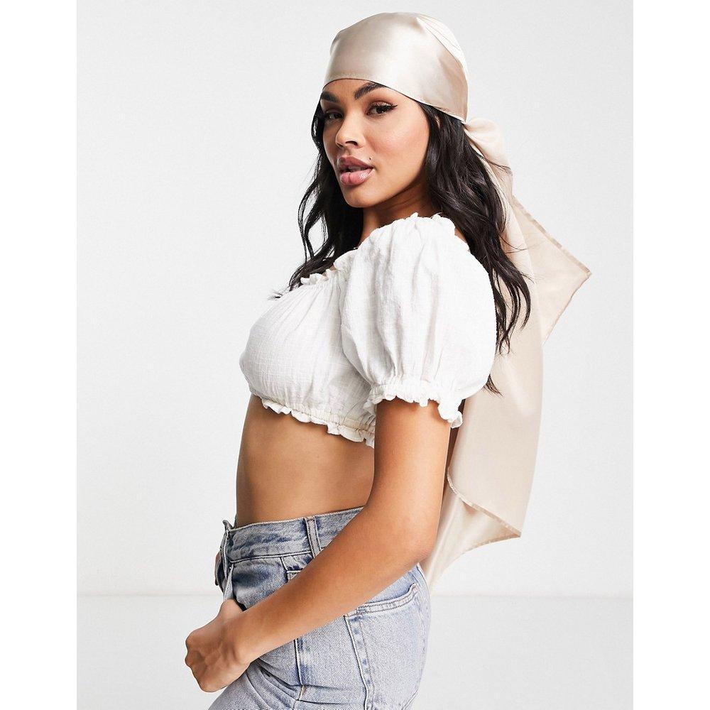 Grand foulard uni en satin polyester - ASOS DESIGN - Modalova