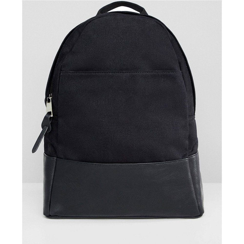 Grand sac à dos en toile - ASOS DESIGN - Modalova
